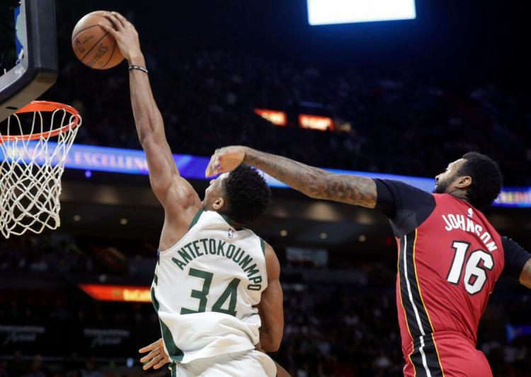 James Johnson, Giannis Antetokounmpo